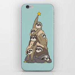 Christmas Tree  Sloths iPhone Skin