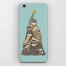 Christmas Tree  Sloths iPhone Skin