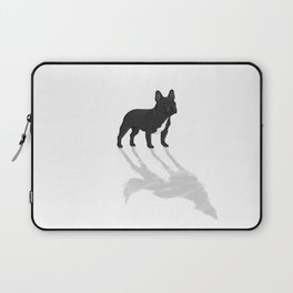 Wild At Heart - Black French Bulldog Laptop Sleeve