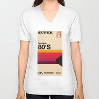 tape V-neck T-shirts featuring Super Tape by Mathiole