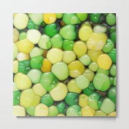 Lemon Lime Abstract Metal Print