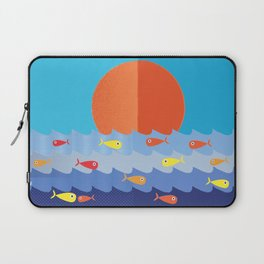 Fish fishing for friends Laptop Sleeve