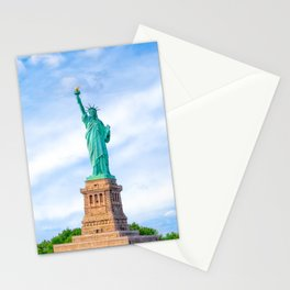 Landmark Statue Of Liberty On The Waters Of New York Harbor Stationery Cards
