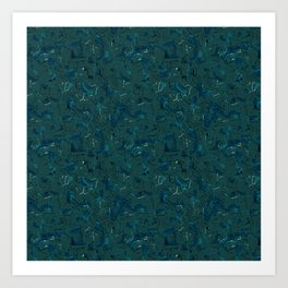 Abstract blue green graphic Art Print