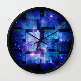 Patched Blue Night Sky Wall Clock