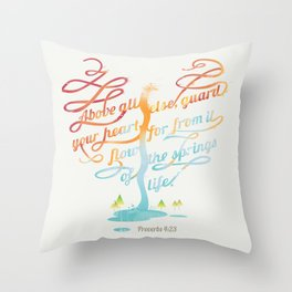 You heart Throw Pillow