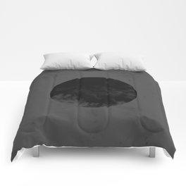 Black Japan Flag Comforters