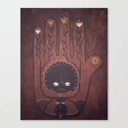 African Creation Goddess Canvas Print