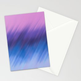 Modern hand painted navy blue pink watercolor brushstrokes Stationery Cards
