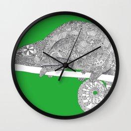 Green-Chameleon Wall Clock