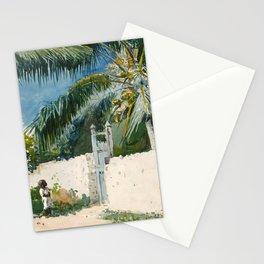 Winslow Homer - A Garden in Nassau,1885 Stationery Cards