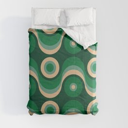 70s Optical Wallpaper Comforters