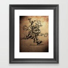 Steam powered Pirate Framed Art Print
