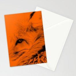 red fox digital acryl painting acrob Stationery Cards