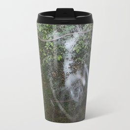 Through the wood line. Travel Mug