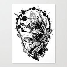 Cursed white Canvas Print