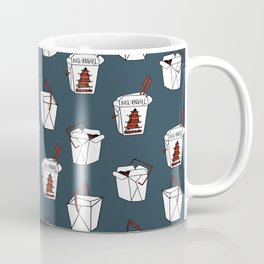Rice takeout chinese food container new york style chinese food pattern Coffee Mug