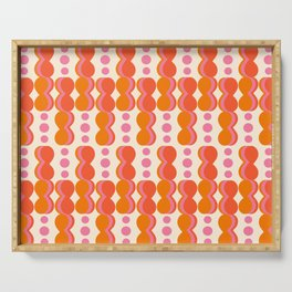 Uende Sixties - Geometric and bold retro shapes Serving Tray