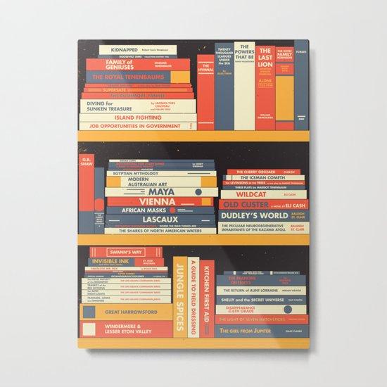 W.A. Library Metal Print
