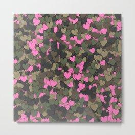 Hearts camouflage Metal Print