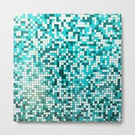 Pool Tiles Metal Print