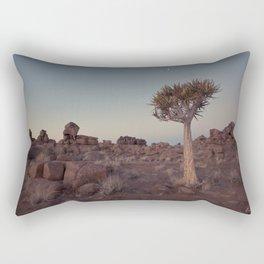 Desert Quiver Tree at dusk - Landscape photography #Society6 Rectangular Pillow