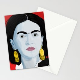 Frida Red Background Stationery Cards