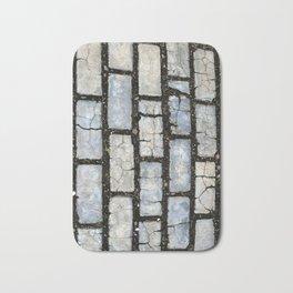 Blue Street Grid Bath Mat