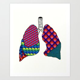 Geometric Lungs Art Print