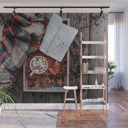Marshmallows, Hot Chocolate, Autumn Wall Mural