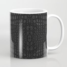Black Crocodile Leather Print Coffee Mug