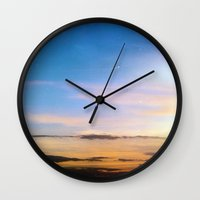 spanish Wall Clocks featuring Spanish Skies by Chloe Gibb