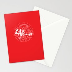 Life is All Right (RED) Stationery Cards