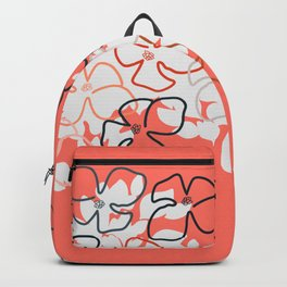 Coral Geraniums Backpack