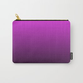 Deep Pink to Black Gradient Carry-All Pouch