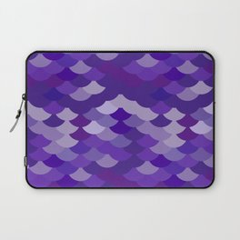 Ultra Violet wave, abstract simple background with japanese seigaiha circle pattern Laptop Sleeve