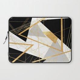 Black and Gold Geometric Laptop Sleeve