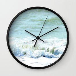 frothy surf (thank you, moon) Wall Clock