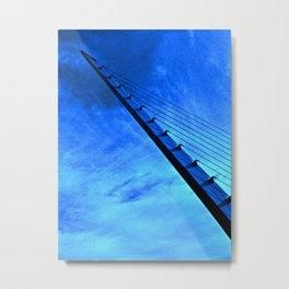 Sundial Harp (Blue) Metal Print