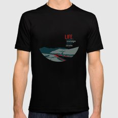 life is about courage.. the secret life of walter mitty Black Mens Fitted Tee X-LARGE