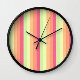 Melon Ball Striped Pattern Wall Clock