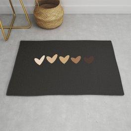 Nude Hearts Rug