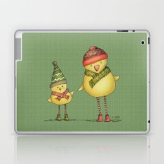Two Chicks - green Laptop & iPad Skin