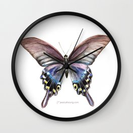 Tiger Swallowtail Butterfly- White Wall Clock