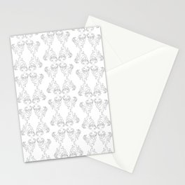 Golden Retriever Dog Pattern Illustration Stationery Cards