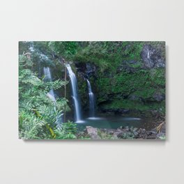 Upper Waikani Falls // Horizontal Metal Print