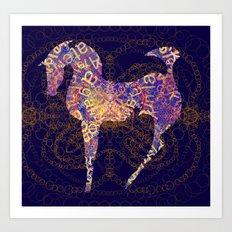 horse secrets Art Print