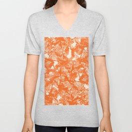 Minimal Shapes Peach Orange Skintones Abstract Pattern Digital Art Print Art Print Unisex V-Neck