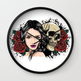 White Clawing Date Wall Clock