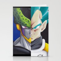 vegeta Stationery Cards featuring Cell vs Vegeta  by ADCArtAttack